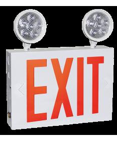 "8"" STEEL LED EXIT COMBO  (NYEXCOM602W)"